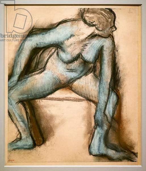 Dancer in a swimsuit. Around 1896. Pastel on velin paper glue on cardboard.