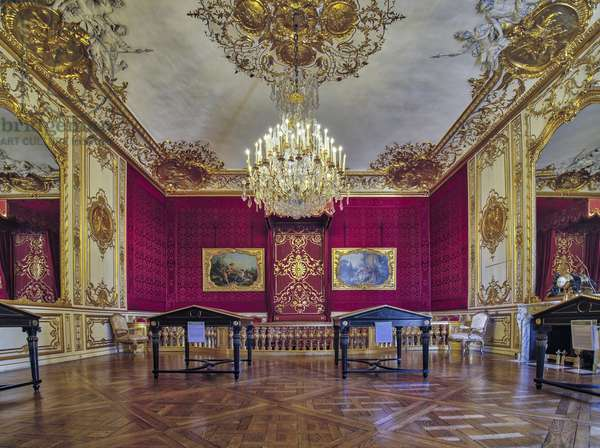Parade or parade room of the princess, architect Germain Boffrand (1667-1754), circa 1737. Hotel de Soubise, Paris, 18th century