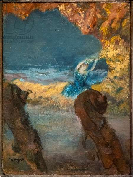 Blue dancer and double bass. 1891. Oil on wood