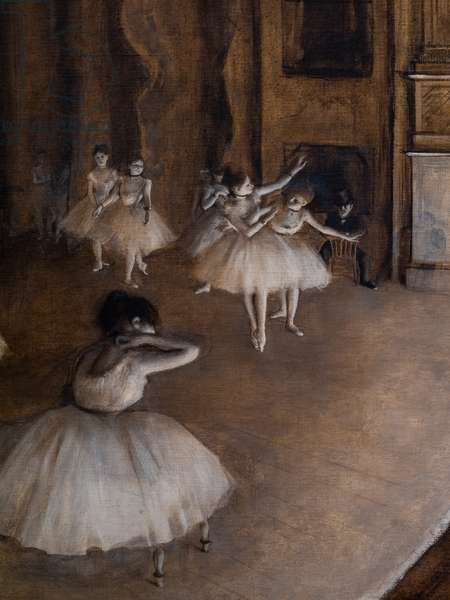 Ballet repetition on the scene (detail). 1874. Oil on canvas.