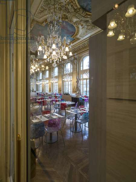 The Orsay Museum. Paris. France - View of the restaurant room of the old hotel d'Orsay - Musee d'Orsay, Paris - Photography 2017