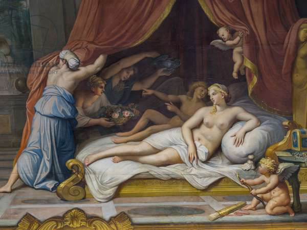 Allegorie du Feu representing Jupiter and Semele, (detail) 1645 (fresco)
