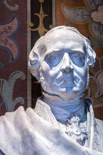 Bust of Achilles Fould (1800-1867) Minister of Finance Plaster sculpture by Pierre Loison (1816-1865) Chateau de Blois