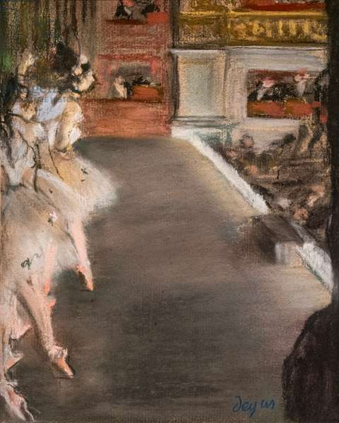 The Opera (dancers at the old Opera). circa 1877. Pastel on monotype.