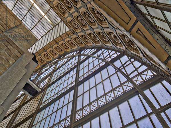 the Orsay Museum. Paris. France - the Orsay Museum. Paris. France - Detail of the support structure in glass and steel, decor of macarons - Musee d'Orsay, Paris - Photography 2017