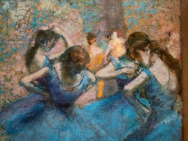 Blue dancers (detail). Around 1893-96. Oil on canvas.