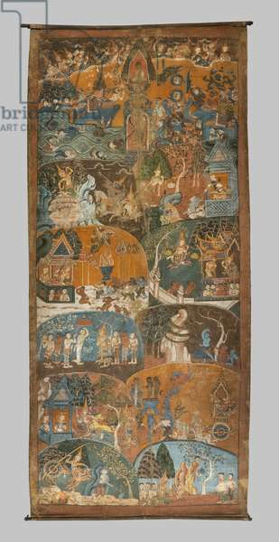 The last ten previous lives of the Boudha (Dasa Jakata). Cambodia, second half of the 18th century. Paint