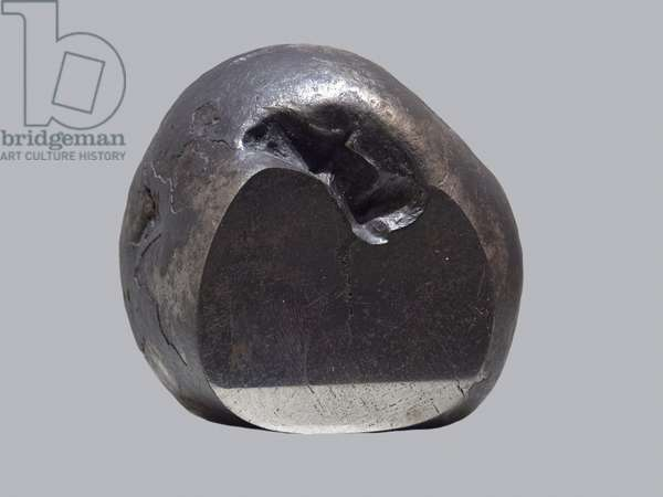 Iron meteorite (IAB). Tombee in Hassii-Jekna (Algeria) in 1890. National Museum of Natural History, Paris.
