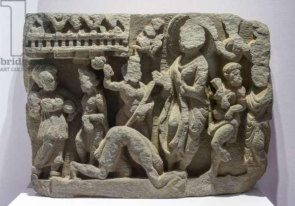 Dipamkara Jataka. Pakistan. Art of Gandhara, 1st and 3rd. Carving