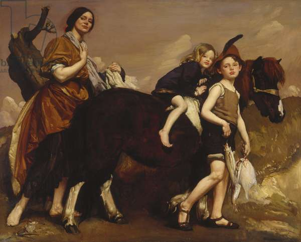 Holiday in Essex, 1910 (oil on canvas)