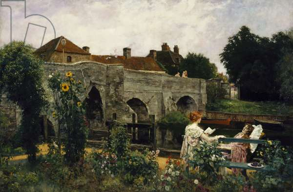 The Garden by the River, 1897 (oil on canvas)
