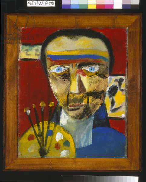 Self Portrait, 1943 (synthetic polymer paint on jute canvas)
