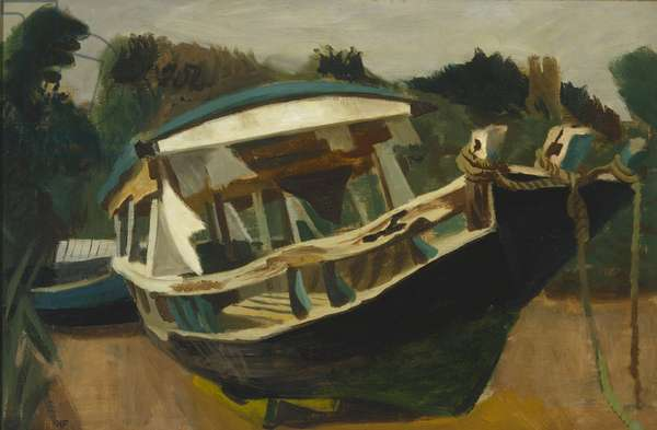 The Old Houseboat (oil on canvas)