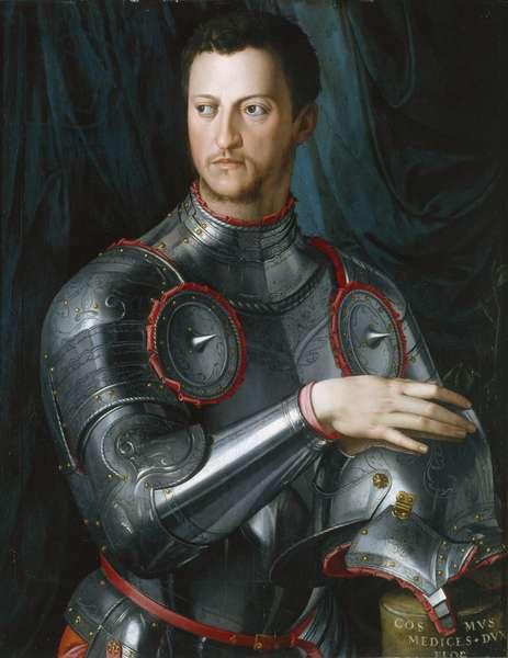 Duke Cosimo I (1519-74) de' Medici in Armour, 1540s (oil on panel)