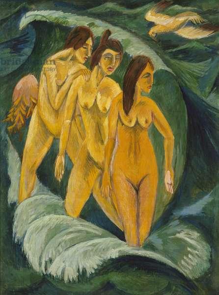 Three Bathers, 1913 (oil on canvas)