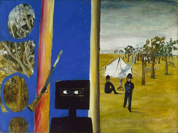 The Camp, 1946 (synthetic polymer paint on hardboard)