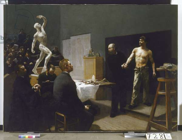 The Anatomy Class at the Ecole des Beaux-Arts, 1888 (oil on canvas)