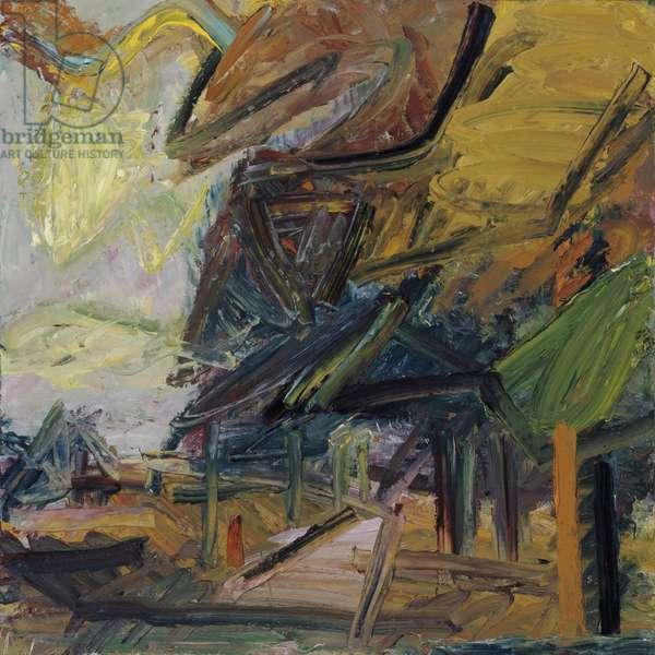 Primrose Hill, Autumn, 1984 (oil on canvas)