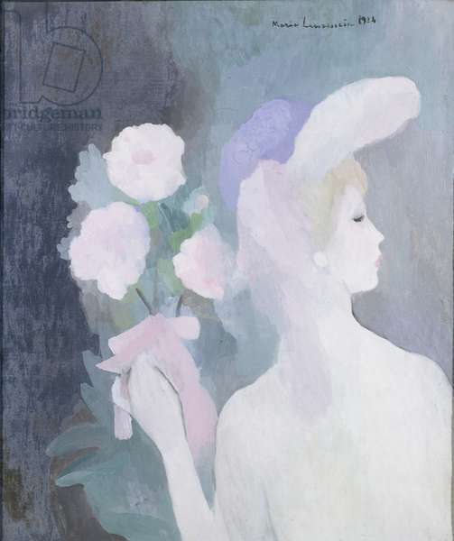 Woman with Bouquet, 1924 (oil on canvas)