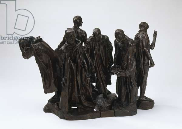 Second maquette for the 'Burghers of Calais', 1972 (bronze)
