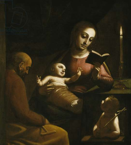 Holy Family with St. John the Baptist, c.1578 (oil on canvas)