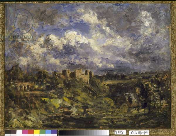 Ludlow Castle, possibly 1898 (oil on canvas)