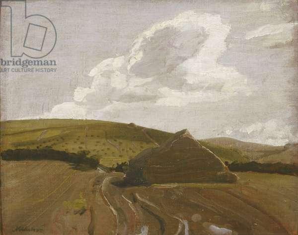 The Stack, Hoar's Fields, 1927 (oil on board)