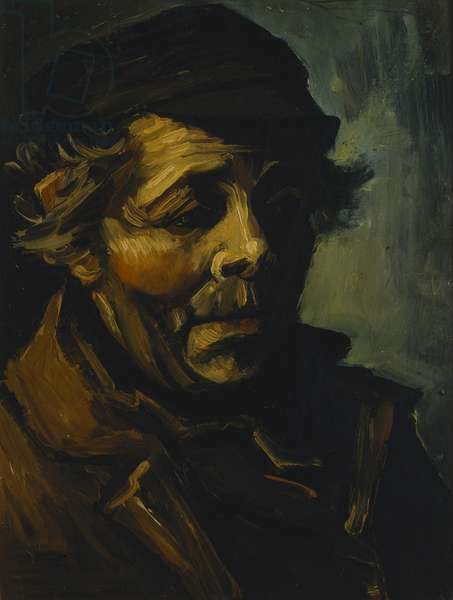 Head of a Peasant, 1884 (oil on canvas)