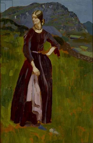Lily on the Mountainside, Blaenau, Ffestiniog, 1911 (oil on board)