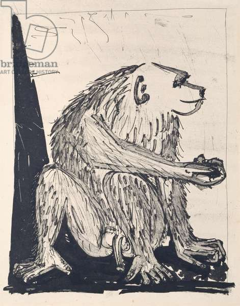 The Monkey, 1936 (sugar-lift aquatint)