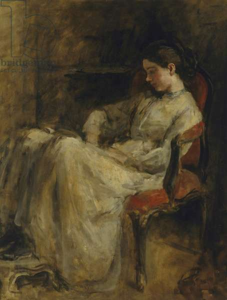 Miss Montgomery reading, c.1908 (oil on canvas)
