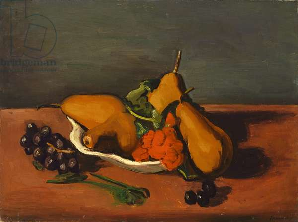 Still Life with Pears and Grapes, 1920s (oil on canvas)
