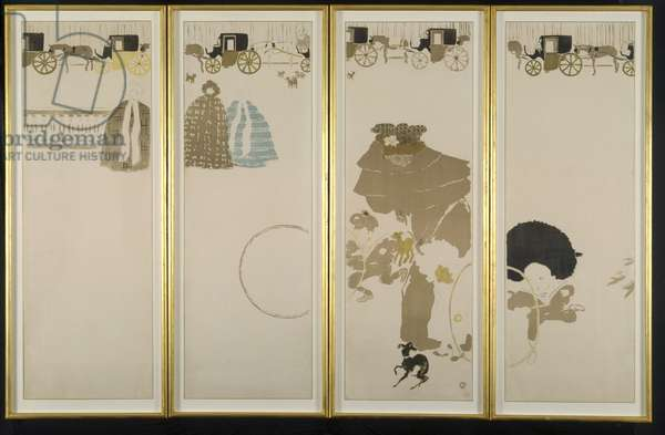 The Folding Screen - 4 panels, 1899 (colour print)