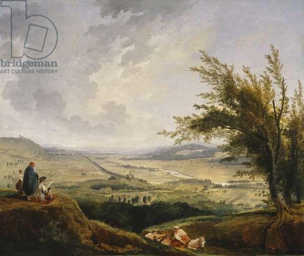 An Extensive Landscape near Paris, 1781 (oil on panel)