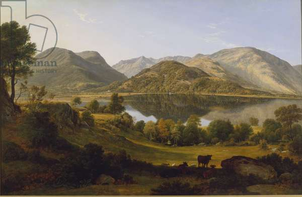 Ullswater, early morning, c.1824 (oil on canvas)