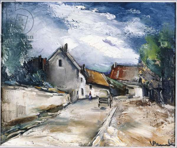 Italian village (oil on canvas)