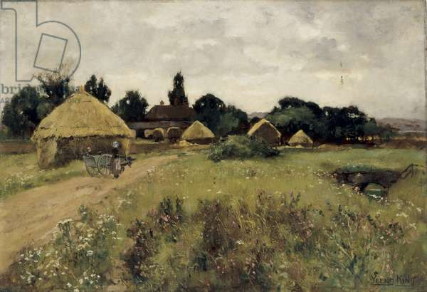 A Farm Near the Kentish Coast, 1888 (oil on wood)
