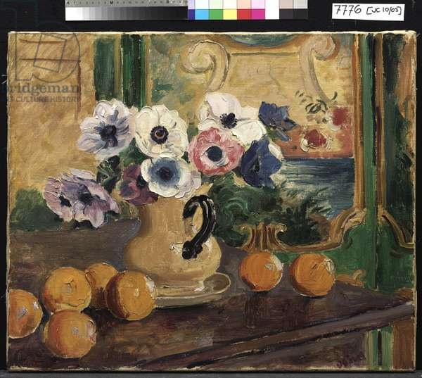 Anemones and Oranges, c.1929 (oil on canvas)