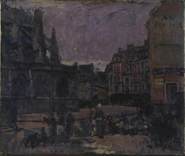 The Flower Market, Dieppe, c.1898 (oil on canvas)