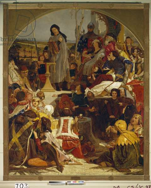 Chaucer at the Court of Edward III, 1847-51 (oil on canvas)