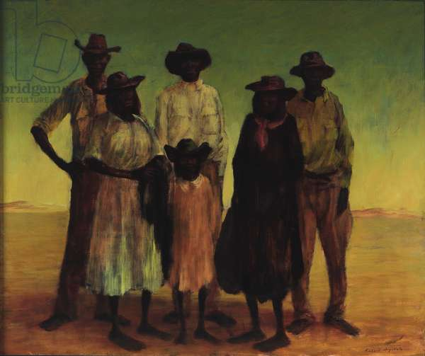 Group of Aborigines, 1953 (oil on canvas)