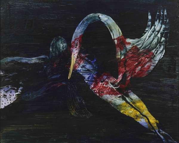 Leda and the Swan, 1958 (polyvinyl acetate on hardboard)