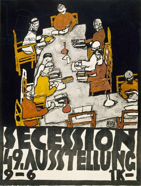 Poster for the Vienna Secession 49th Exhibition, 1918 (colour litho)