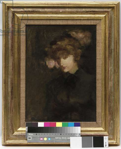 Portrait of the artist's first wife, née Ellen Cobden, 1892-95 (oil on board)