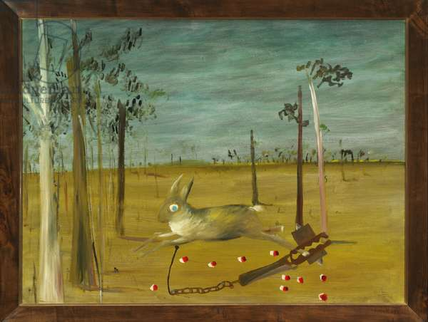 Hare in a Trap, 1948 (Ripolin enamel on hardboard)