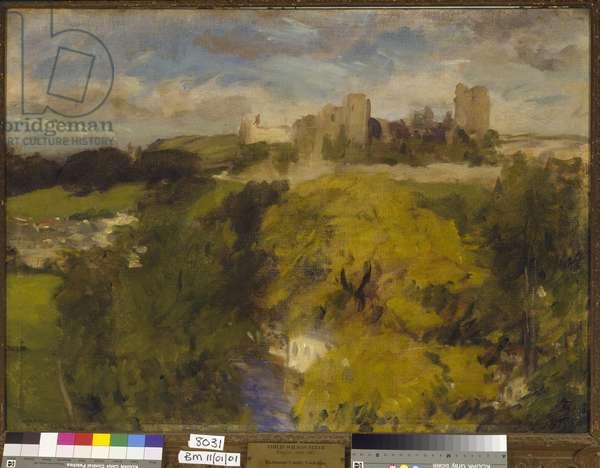 Richmond Castle, Yorkshire, 1903-04 (oil on canvas)