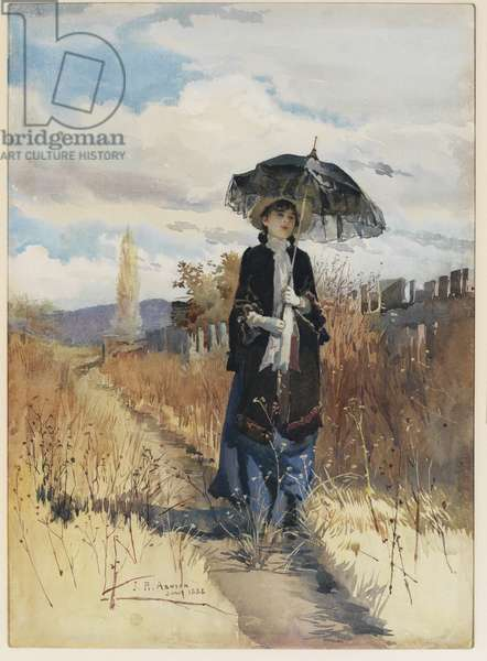 A solitary ramble, 1888 (w/c on paper)
