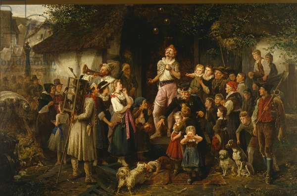 The Juggler: a village fair, 1873 (oil on canvas)