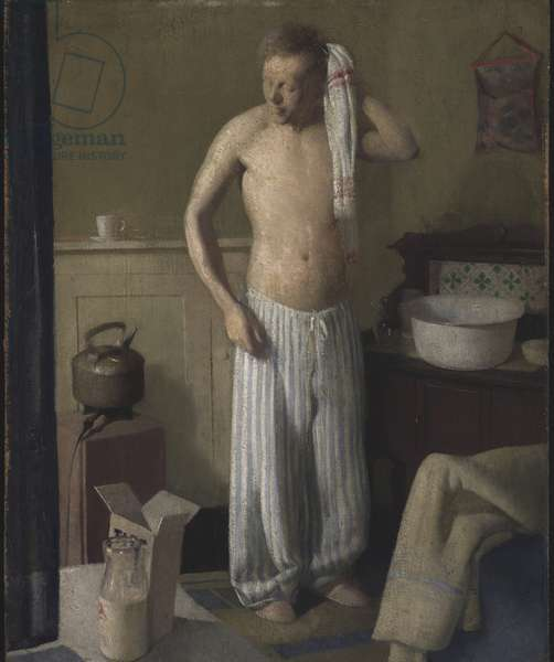 The Boy at the Basin, 1932 (oil on panel)