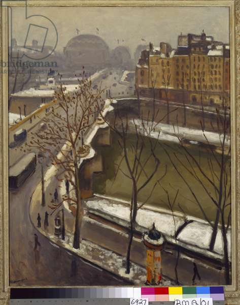 The Pont Neuf in the Snow, late 1920s (oil on canvas)